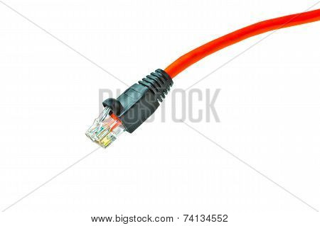 Lan Ethernet Cable Isolated On White Background