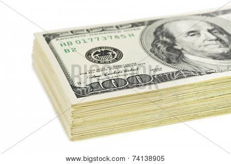 Dollars pack isolated on white background