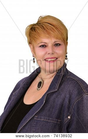 Mature Woman Body Language - Confident Smiling