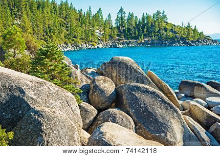 Rocky Lake Tahoe Shore