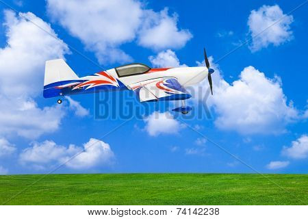 RC plane - on sky background