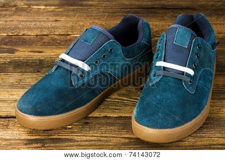 Dark Blue Man's Shoe