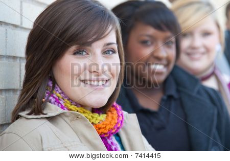 Multi-racial Female College Students