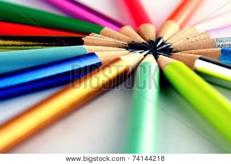 Sharpened Colorful Pencil