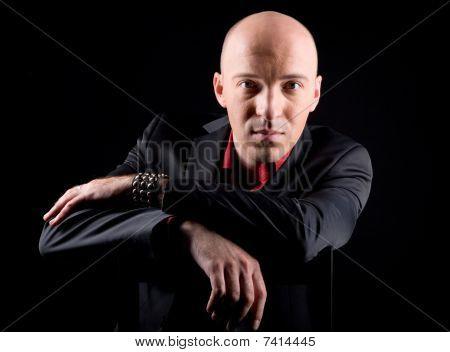 A Young Bald Man