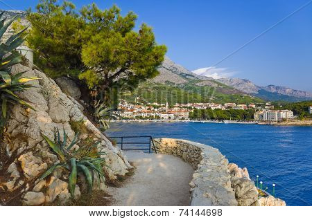 View to Makarska, Croatia - travel background