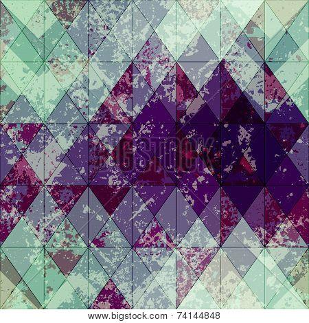 Grunge rhomboid pattern