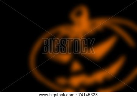 Abstract Black Background With Blurred Orange Line, For Halloween