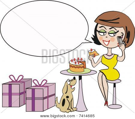 Birthday celebration cartoon
