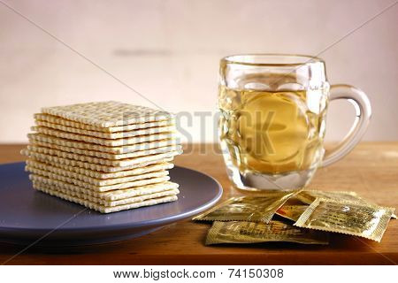 Soda Crackers and a cup of tea