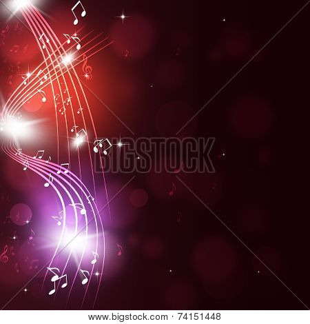 Multicolor Muisc Notes Party Background