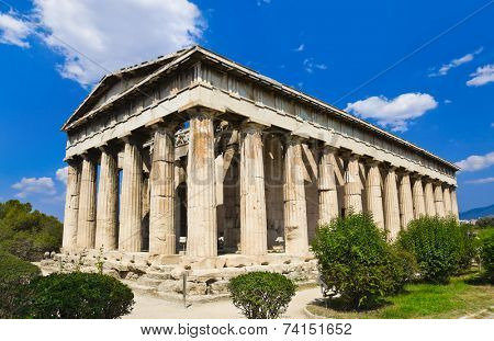 Ancient Agora at Athens, Greece - travel background