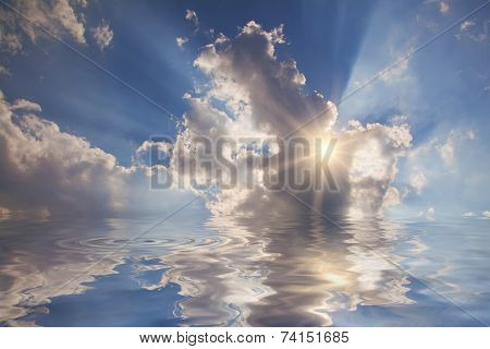 Heaven Light In The Clouds