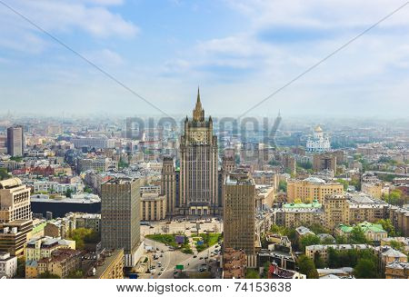 Centre of Moscow, Russia - aerial view