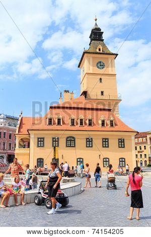 Council Square On July 15, 2014 In Brasov, Romania