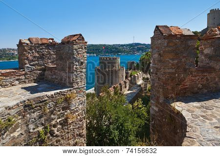 Rumeli Fortress at Istanbul Turkey - architecture background