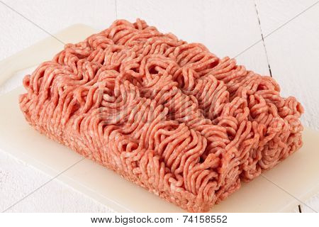 Block Of Commercial Beef Mince From A Store