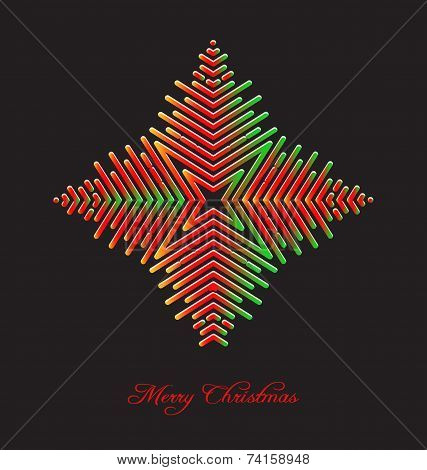 Elegant Christmas Background With Abstract Snowflake Embellishment