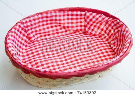 Wicker basket for bread