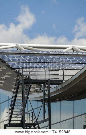 Photovoltaic Solar Panels On A Roof