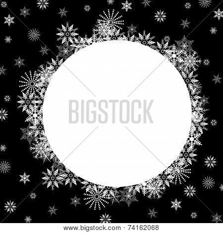 Snowflakes Over Blue with Copy Space