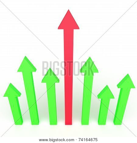 3D Arrows Infographics Design