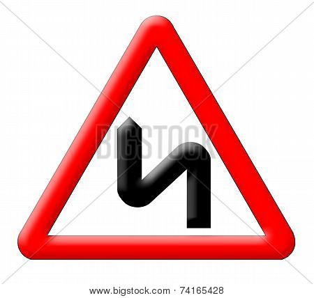 Bend Road Traffic Sign