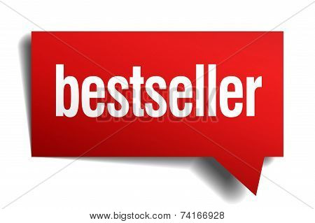 Bestseller Red 3D Realistic Paper Speech Bubble