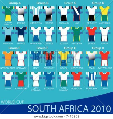 2010 World Cup South Africa - TEAMS.