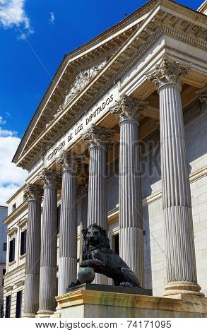 Spanish Congress of Deputies at Madrid - parliament building