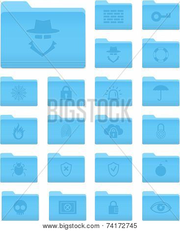Folders With Security Icons