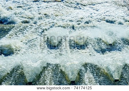 frothed water