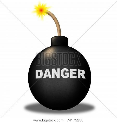 Danger Alert Indicates Beware Explosion And Safety