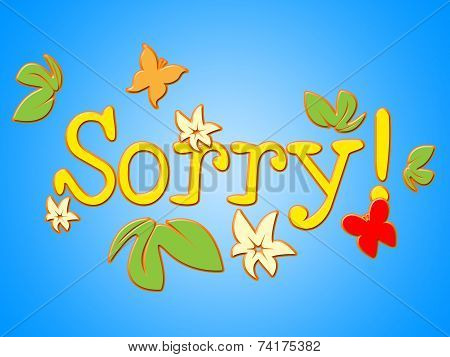 Sorry Message Means Correspondence Communicate And Correspond