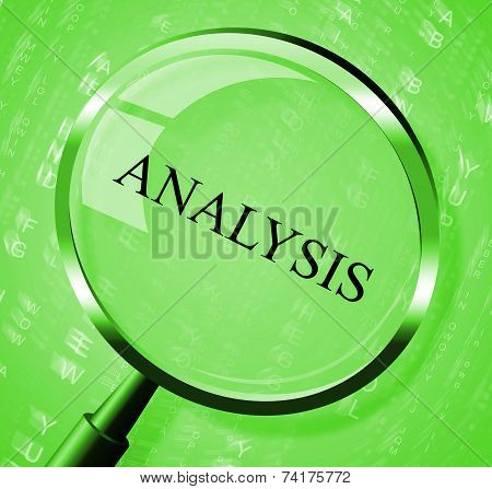 Analysis Magnifier Represents Data Analytics And Analyse