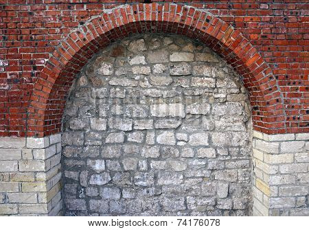 Architectural Element In The Form Of A Brick Arch