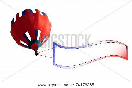 Advertising air balloon, information on events