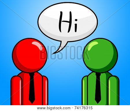 Hi Conversation Shows How Are You And Chinwag