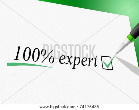 Hundred Percent Expert Shows Completely Excellence And Ability