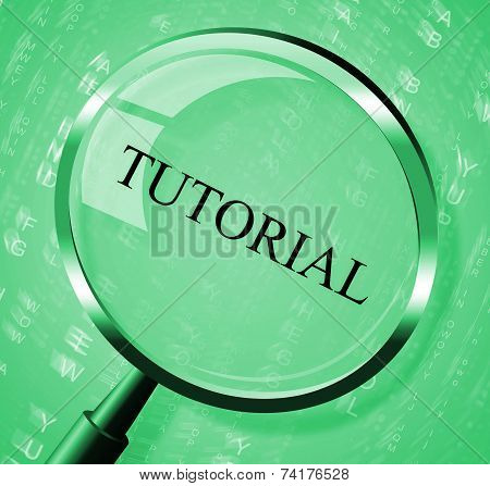 Tutorial Magnifier Indicates Online Tutorials And Develop