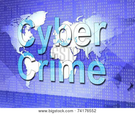 Cyber Crime Shows World Wide Web And Criminal