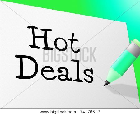 Hot Deals Represents Save Retail And Sales