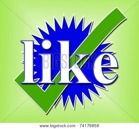 Like Tick Means Social Media And Check