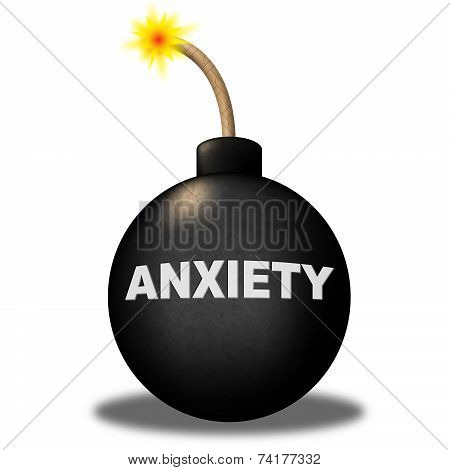 Anxiety Warning Indicates Concern Uneasiness And Alert