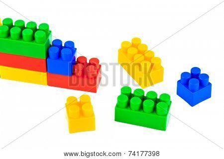Toy blocks isolated on white background