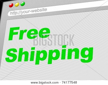 Free Shipping Shows With Our Compliments And Delivering