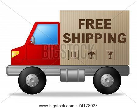 Free Shipping Shows Truck Postage And Delivering