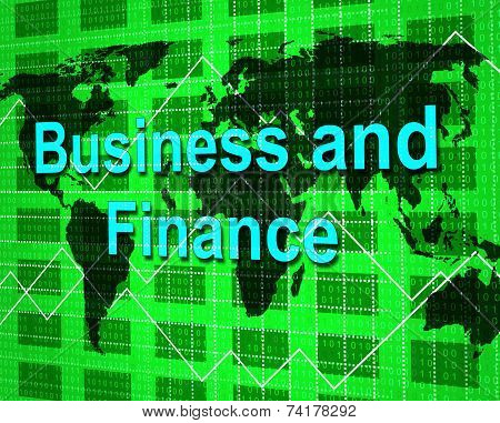 Business And Finance Represents Corporate Profit And Financial