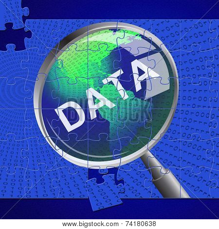 Data Magnifier Means Bytes Magnification And Searching