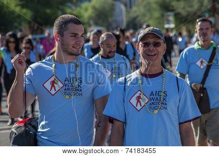 Men At Aidswalk